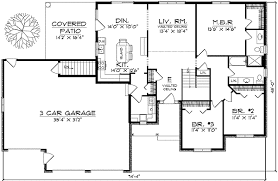 Traditional Ranch Style Home Plan   AH   st Floor Master    Floor Plan