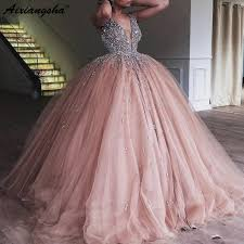 <b>Champagne Tulle</b> Ball Gown Quinceanera Dress <b>2019 Elegant</b> ...