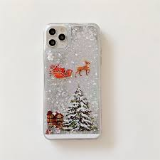 <b>Christmas Tree Flowing</b> Liquid Pattern Case For iPhone 12 11 Pro ...