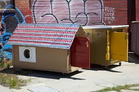 this artist turns trash into homes for the homeless artist creates mobile homes