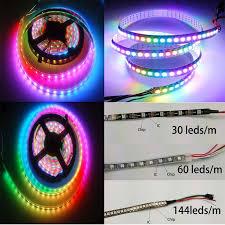 WS2812B SMD5050 <b>LED</b> Strip <b>5V</b> 1m/5m <b>LED</b> Strip Individual ...