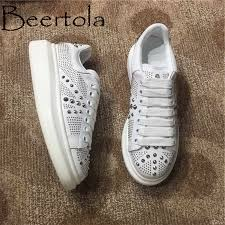Beertola Fashion Design Sneakers Woman <b>Flock Suede</b> Red ...