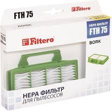 НЕРА <b>фильтр</b> для пылесоса Filtero FTH 75 BRK, белый, зеленый