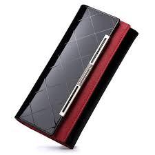 Eimore Stylish <b>Luxury Genuine Leather Women's</b> Wallet - Black ...