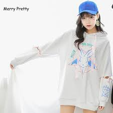 2019 <b>Merry Pretty Harajuku</b> Cute Lolita <b>Women</b> Tumblr Sweatshirt ...
