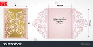 laser cut wedding invitation card template stock vector  laser cut wedding invitation card template vector die cut paper card rose flowers