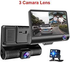 <b>Car DVR 3</b> Cameras Lens 4.0 Inch Dash Camera Dual Lens with ...