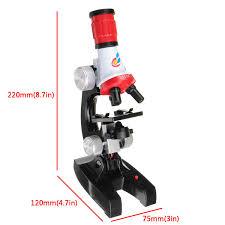 <b>Microscope</b> Kit Lab LED 100X 400X 1200X Home School Science ...