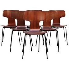set of six arne jacobsen for fritz hansen teak stacking chairs 3103 arne jacobsen furniture
