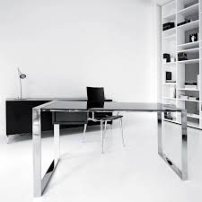 the best selection office interior design ideas with elegant glass top table combinated stainless steel legs captivating office interior decoration