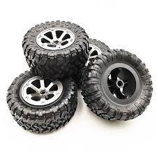<b>4Pcs RC Car</b> Tires <b>Wheels</b> Rims Set for WPL B-36 B-14 B-24 B-16 C ...