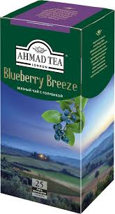Ahmad <b>Tea</b> Blueberry Breeze <b>зеленый чай</b> в пакетиках, 25 шт ...
