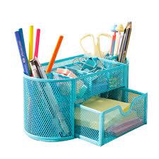 Office Desk Organizer Desktop Office Pencil Stationery <b>Pen Holder</b> ...