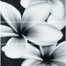 Декор <b>MEI Pret</b> a <b>Porter</b> 750x750 стеклянное <b>панно</b> Flower grey O ...