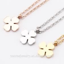 China 4 <b>leaf</b> clover <b>necklaces</b>