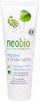 <b>Зубная паста</b> NeoBio с био-гамамелисом и розмарином <b>без</b> ...