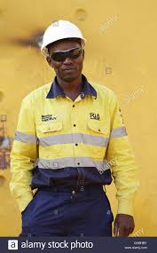 portrait of zambian mining employee hard working man hard portrait of zambian mining employee hard working man hard hat