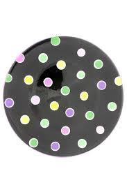 home decor plate x: dinner plate ceramic polka dot design measures quot diameter x quot mardi