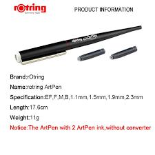 <b>rotring Art Pen</b> sketch Pen professional drawing pen EF/ F/M/ B/1.1 ...