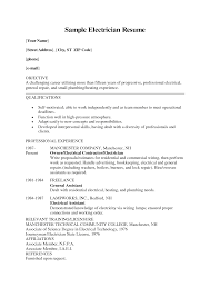 electrician apprentice resume info resume for electrician maintenance electrician resume regard to