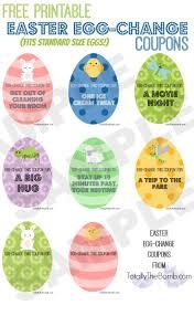 printable easter egg change coupons