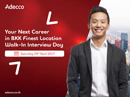 adecco thailand   walk in interview
