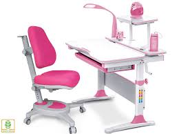 <b>Комплект</b> парта и <b>кресло Mealux EVO</b>-<b>30</b> (с <b>лампой</b>) (Розовый ...