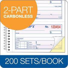 money rent receipt book part carbonless page st bk
