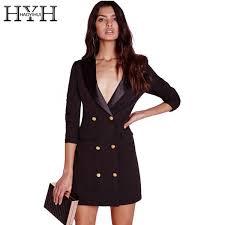 2019 <b>Hyh Haoyihui</b> Brief <b>Black</b> Women Button Mini Sexy Dress ...