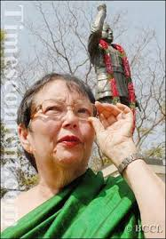 Anita Bose Pfaff, daughter of Indian nationalist leader Subhash Chandra Bose during a ceremony for - Anita-Bose-Pfaff