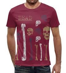 """<b>Футболка с полной</b> запечаткой """"Dead и состаренные кости"""" от ..."""