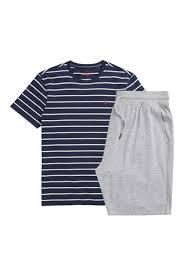 Трикотажный <b>пижамный комплект</b> в полоску