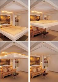 living room with bed: turn your bedroom into a new living room the idea behind of this lift bed
