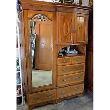 edwardian compactum wardrobe antique armoire storage cabinet drawers mirror antique armoires antique wardrobes english