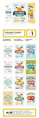 holiday event poster bundle vol flyer templates on creative holiday event poster bundle