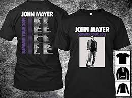 Men Women John Mayer Tour 2019 T-Shirt Long T ... - Amazon.com