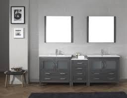 bathroom beautiful bathroom with grey fresca vanity and double sink