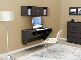 black stained hickory hardwood wall black home office laptop desk furniture