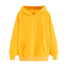<b>Women</b> Yellow Hoodie <b>Autumn Long Sleeve</b> Sweatshirt Pocket ...
