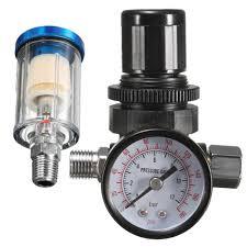 "<b>HVLP Spray Air Regulator</b> Pressure Gauge & 1/4"" Mini Inline Air ..."