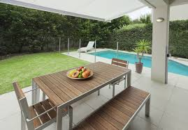 side patio covers pools modern pool side patio design with outdoor dining table