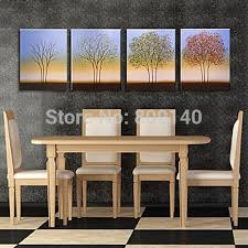 abstract tree oil painting canvas 4 seasons landscape artwork handmade home office hotel wall art decor artwork for the office