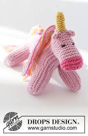 Rainbow the <b>Unicorn</b> / DROPS Children 37-18 - Free knitting ...