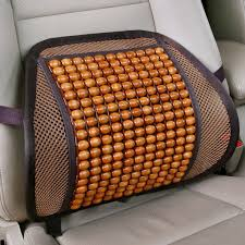 HLEST Luxury <b>Wooden Bead</b> Seat Back Lumbar Support Cushion ...