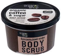 Organic Shop <b>Скраб для тела Бразильский</b> кофе — купить по ...