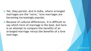 is an arranged marriage good to form a arranged marriage 4 yet