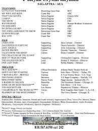 film acting resume tv film partial listing host best take d acting resume resume template builder creating resume acting resume