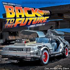 <b>Welly 1:24</b> Diecast Alloy Model Car <b>Movie</b> Back to the Future Aircraft ...