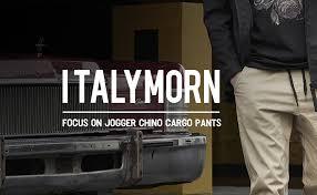 ITALY MORN Men's <b>Chino Jogger</b> Casual Pants <b>Khakis Jogging</b> ...