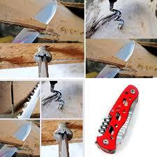 <b>DIY</b> Crafts <b>Folding</b> Multi-Function <b>Knife</b> Aluminum Anodise Handle ...